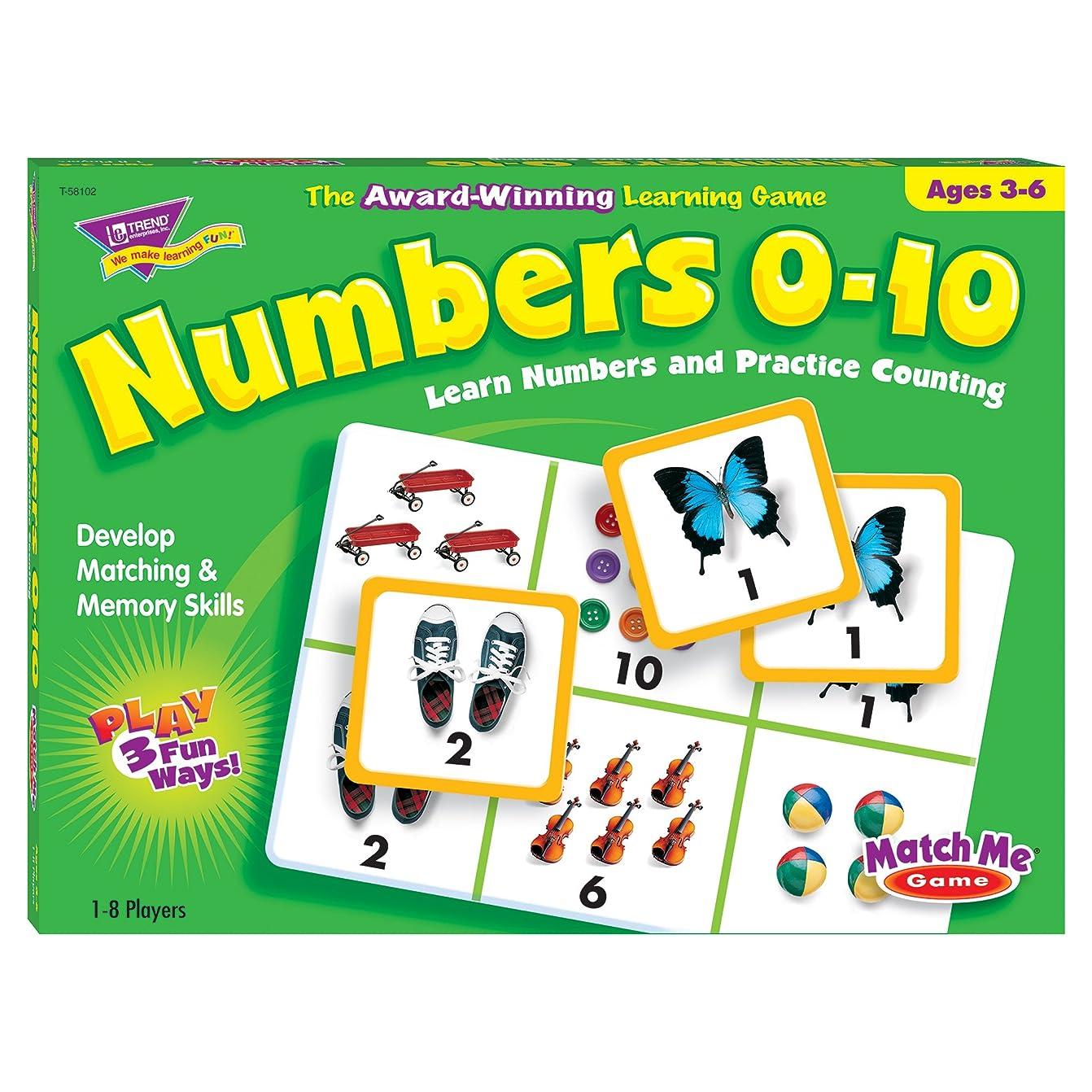 柔らかい足入る差別的トレンド 英単語 カードゲーム マッチミーゲーム 数字 0から10 Trend Match Me Games Numbers 0-10 T-58102