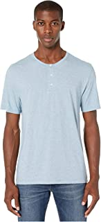 Vince Striped Short Sleeve Henley