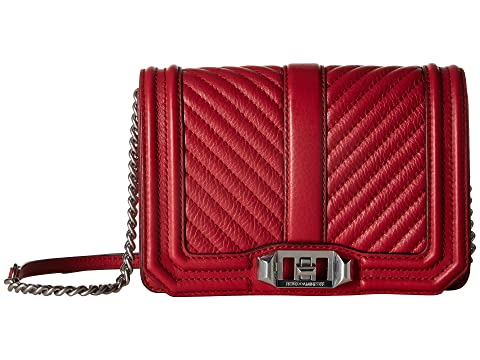 Cheap Sale 2018 New Rebecca Minkoff Chevron Quilted Small Love Crossbody Scarlet Cheap Sale Genuine Sale In UK Buy Cheap Explore WBsb3