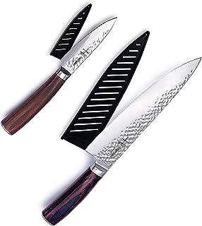 Ensemble de couteaux de chef japonais Hajegato professionnel de 20,3 cm et couteaux de cuisine de 3,5 cm 7cr17 en acier in...