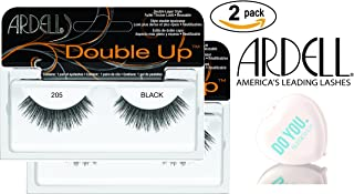 Ardell Professional DOUBLE UP Lashes, 2-pack (with Sleek Compact Mirror) (205 Black (2-pack))