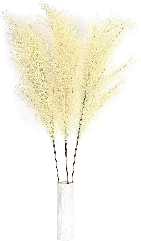 3 Stems Max 81% OFF Tall Artificial Pampas Grass 45