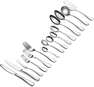 Artaste 103 Piece 56457 Rain 18/10 Stainless Steel 103-Piece Flatware Set, Service for 12, Silver