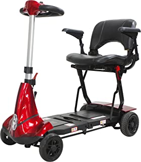 Mobie Plus Folding Travel Scooter Red
