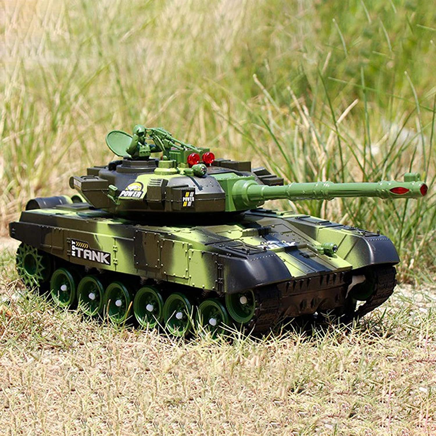 For Kids /& Adults Remote Control Toys 12 Inch Remote Control Military Vehicle Combat Fight With Sound Rotating Turret And Recoil Action When Cannon Artillery Shoots iFlymisi RC Tank