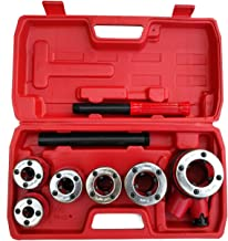 """Ratchet Pipe Threader- 6 Piece Die Pipe Threading Set, NPT ½"""" to 1¼"""" Cutting Tool For All Kinds Of Pipes, a U.S. Solid Product"""
