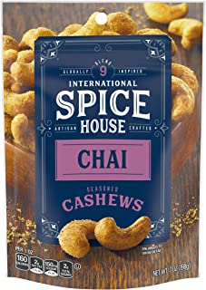 International Spice House Chai Seasoned Cashews, 7 oz Bag