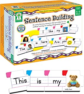 Key Education Sentence Building for Kids—Sight Word Builder for Early Reading, Speech, Writing, Language, Literacy Resourc...