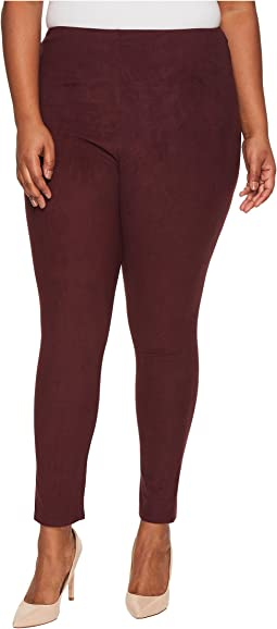 Lysse - Plus Size High-Waist Suede Leggings