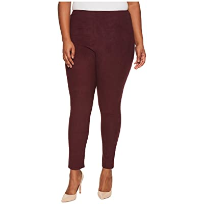 Lysse Plus Size High-Waist Suede Leggings (Currant) Women