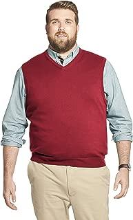 Men's Big and Tall Premium Essentials Solid V-Neck 12...