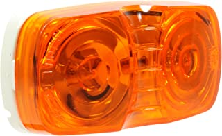 Vehicle Safety Manufacturing 1561AK Amber 2.5 Rectangular 4-Diode LED Lamp Kit Amber Lens