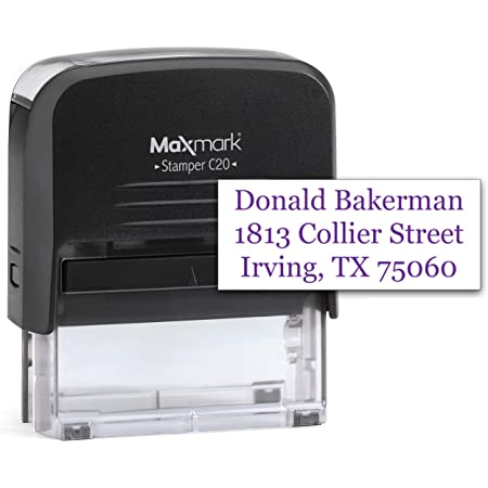 Custom Business Self-Inking Rubber Stamp ARROW Text Colop Printer 20 Design Address Stamp Rectangular Logo Stamp For Office 37 x 13 mm