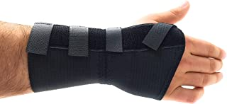 Premium Custom Wrist Brace Support - with Removable Metal Splint/Stays - Left - Large