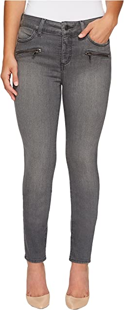Petite Alina Legging Jeans w/ Zippers in Future Fit Denim in Alchemy