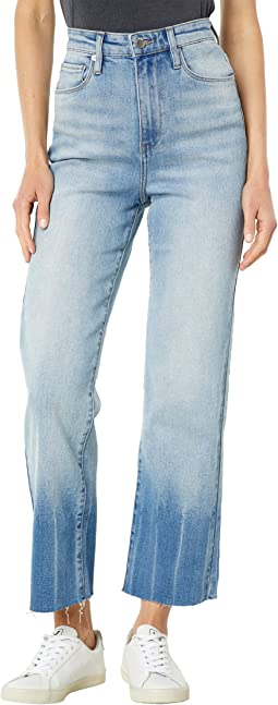 Tie-Dye Hem Sustainable Baxter Rib-Cage Pants in Smile and Wave