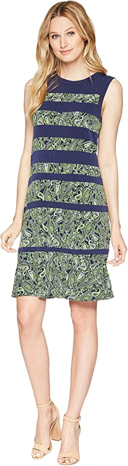 Paisley Paneled Sleeveless Dress