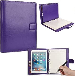 Funda Apple iPad Air 1 con cuaderno, funda tipo cartera Cooper FOLDERTAB con agenda, bloc de notas y bolsillos para izquierda y derecha (violeta)