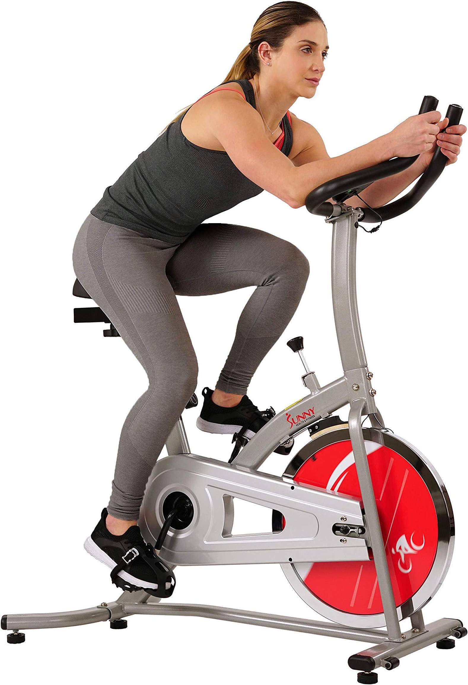 Sunny Health & Fitness Indoor Cycling Exercise Stationary Bike with Digital Monitor