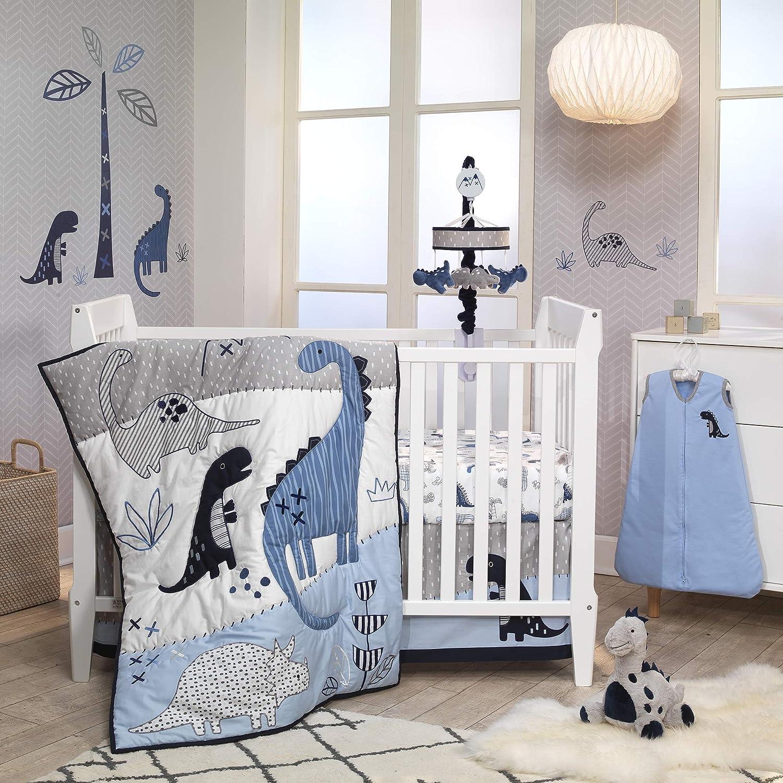 Lambs Regular dealer Ivy Baby Dino Blue White Nursery Dinosaur Ranking TOP1 B 6-Piece Crib