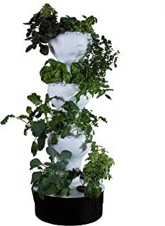 Foody 12 - Vertical Hydroponic Garden - Self Watering - 44 Plant Sites - Grow Great Tasting Food Year Around - Made of Food Grade Polypropylene