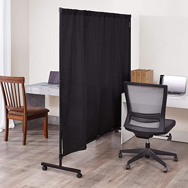 Don T Look At Me Simplified Privacy Room Divider Black Frame With Black Privacy Fabric
