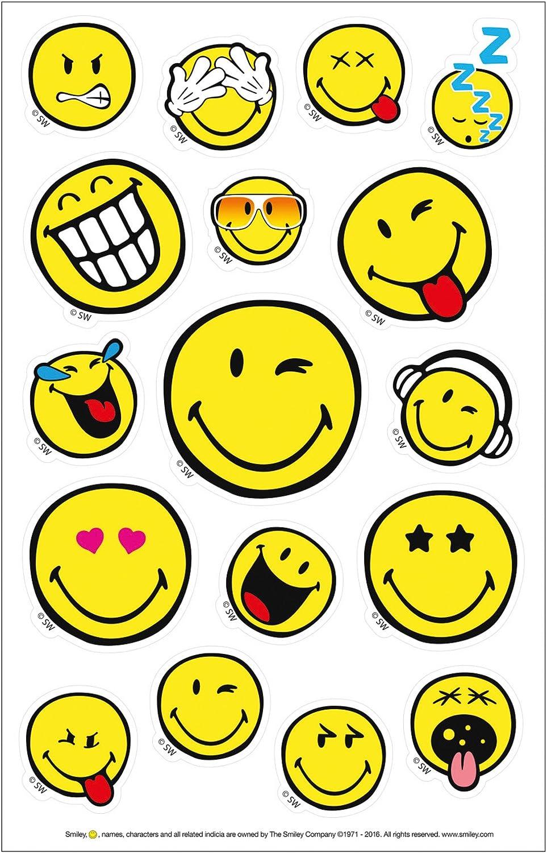 Herlitz 50001996 Self Adhesive Stickers Smiley World Small 3 Sheets Fsc Bürobedarf Schreibwaren