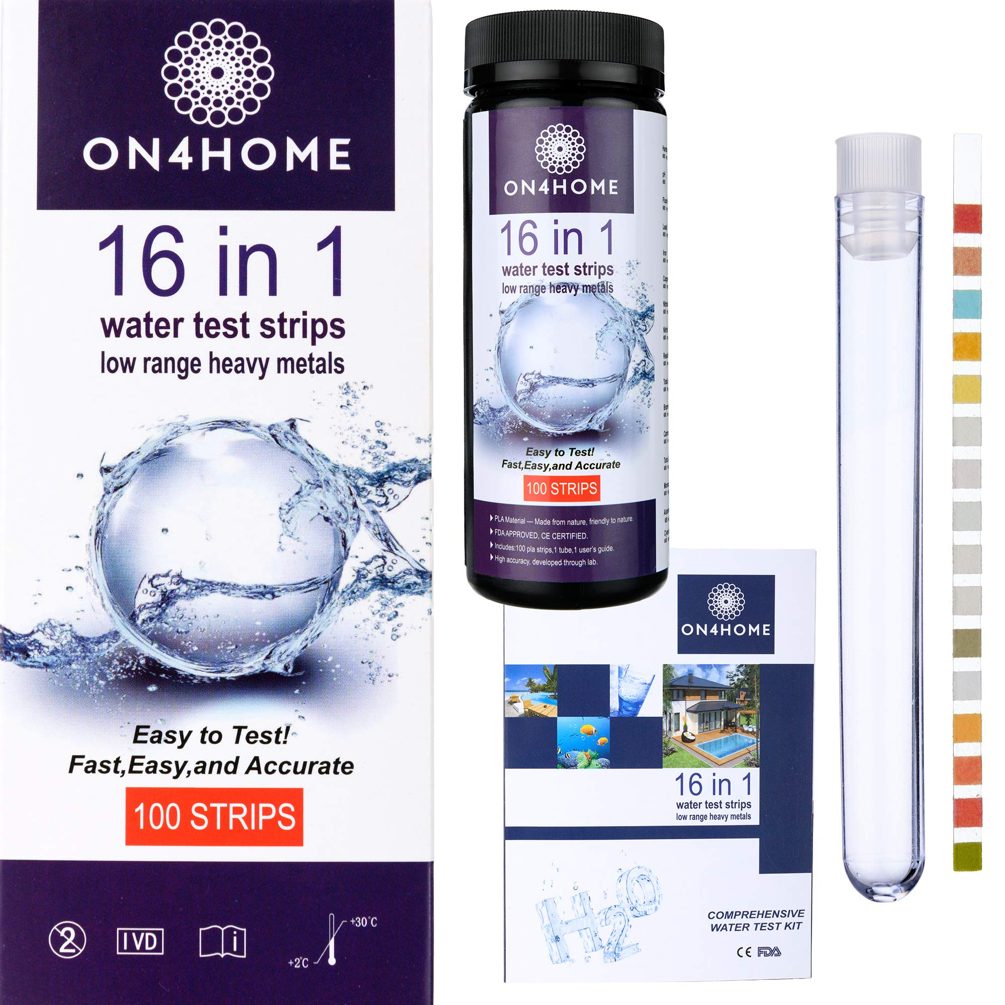 16 Water Test Strips ON4HOME