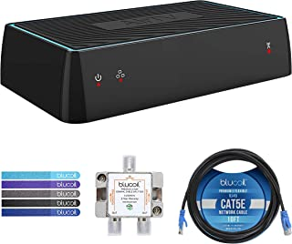 Sling AirTV Dual-Tuner Local Channel Streamer with Integrated DVR for TV and Mobile Devices Bundle with Blucoil 10-FT Cat5e Cable, 2-Way TV Splitter, and 5X Cable Ties | Bonus $25 Sling TV Credit