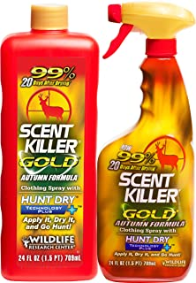 Wildlife Research 1279 Scent Killer Gold Autumn Formula 24/24 Combo 48 FL OZ
