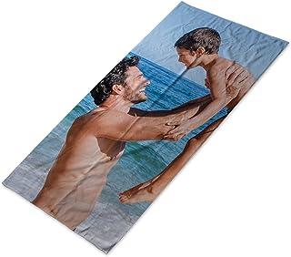 LolaPix Toalla Personalizada con Foto con Foto/Imagen/Texto/Nombre. Toalla de baño de algodón. Toalla Personalizada para Playa Piscina Camping. Varios tamaños Disponibles. 70x140cm
