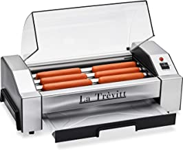 La Trevitt Hot Dog Roller- Sausage Grill Cooker Machine- 6 Hot Dog Capacity - Commercial and Household Hot Dog Machine for...