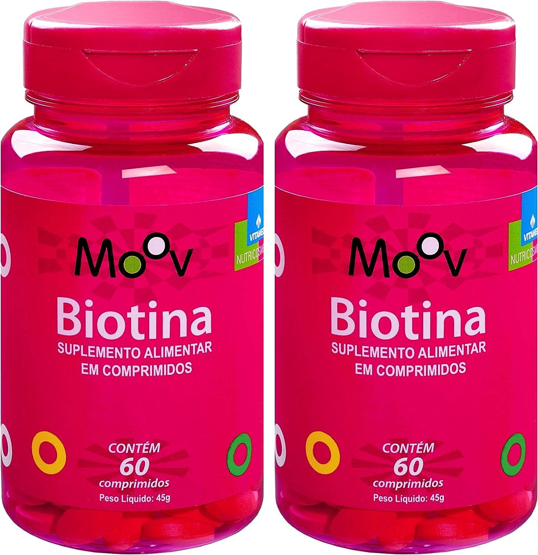 Kit Com 2 Biotina Para A Beleza Da Pele Cabelos E Unhas 120 Comprimidos!