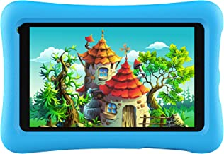 Kids Tablet, Android OS, 32GB ROM, Kidoz Pre Installed, IPS HD Display, 7 inch WiFi Android Tablet, Kid-Proof, Blue