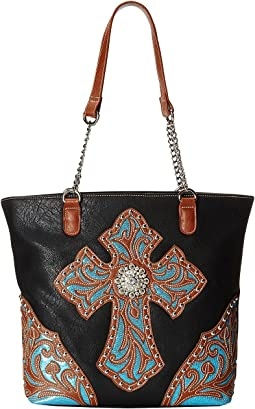 M&F Western - Glitter Cross Large Tote Bag