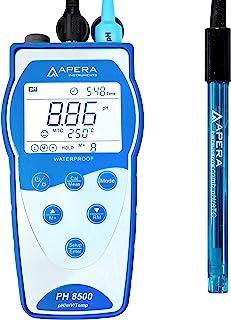 Apera Instruments Premium Series PH8500 Portable Handheld pH Meter Kit (AI5520)