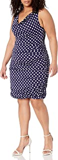 Star Vixen Women's Plus-Size Rouched Sweetheart Neckline Stretch Ity Bodycon Dress