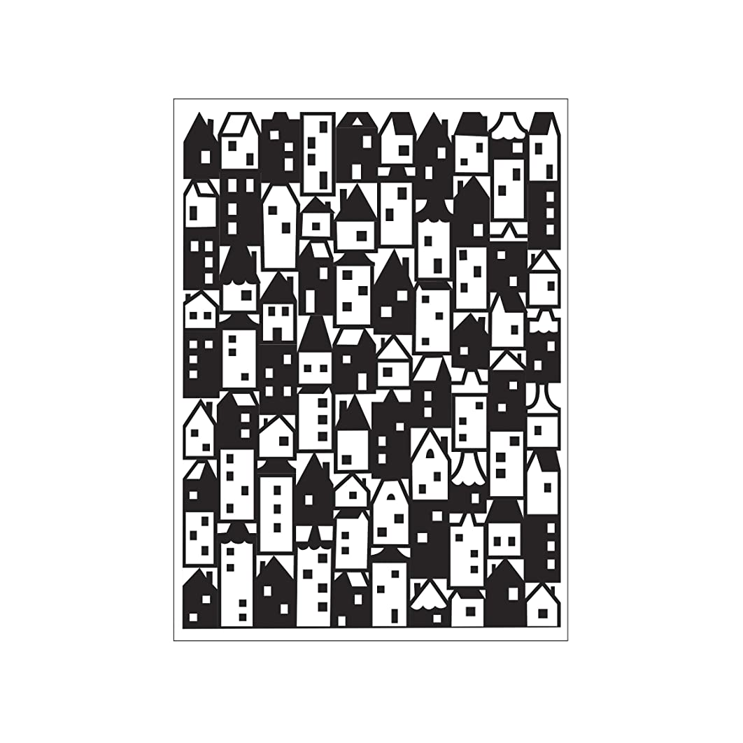 Darice Embossing Folder A6, Template Houses Pattern, Transparente