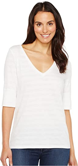 Elbow Sleeve V-Neck