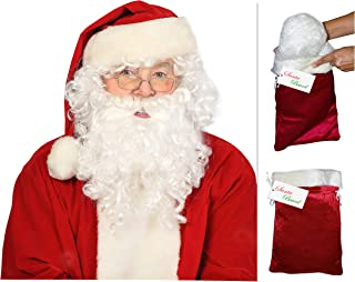 realistic santa beard wig