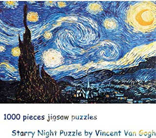 1000 Pieces Jigsaw Puzzles for Adults and Kids CHengQiSM Starry Night Puzzles by Vincent Van Gogh Micro Jigsaw Puzzles