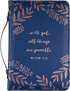 """Eccolo Zippered Bible And Book Cover Case for Men and Women, Holds & Protects Medium 5.5 x 8.5"""" Bibles"""