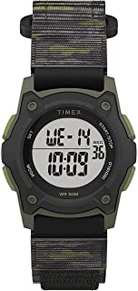 Timex Boys' Time Machines Digital Quartz Nylon Strap, Black, 18 Casual Watch (Model: TW7C775009J)