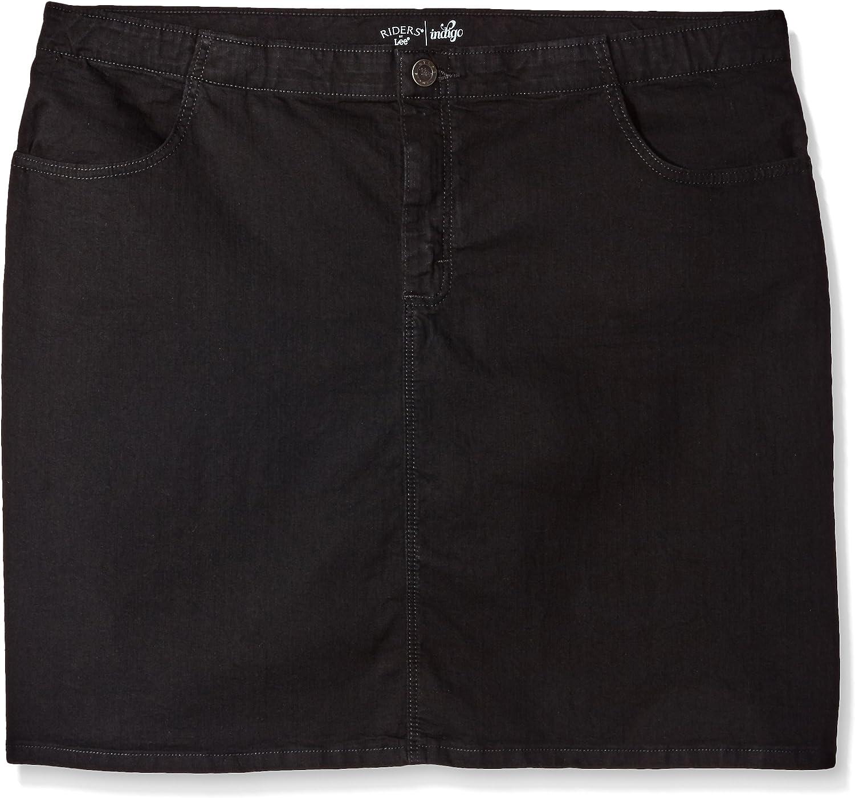 Riders by Lee Indigo Women's Plus Size Comfort Collection Denim Skirt