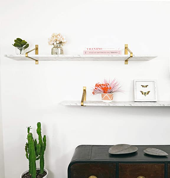 Hauzkas White Silk Matt Marble Shelf
