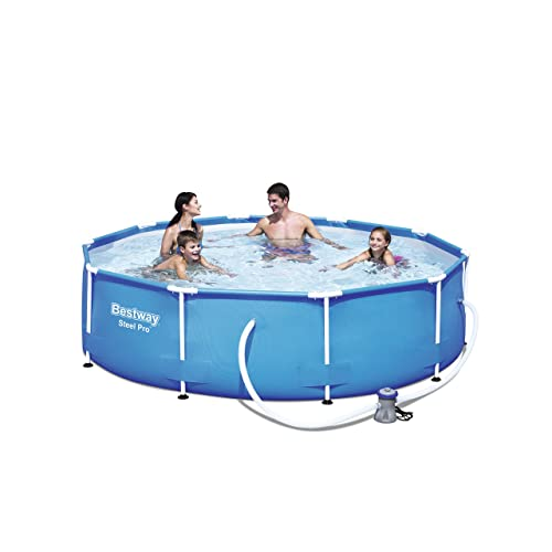 Bestway Frame Pool Steel Pro, Set mit Filterpumpe, 305 x 76 cm, blau
