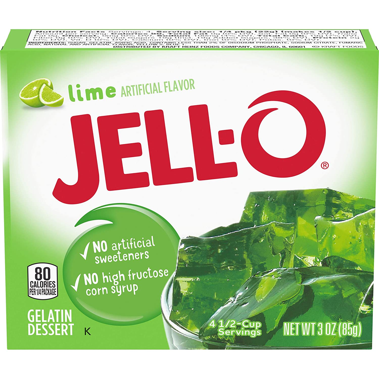 Amazon.com : Jell-O Lime Gelatin Mix (3 oz Box) : Grocery & Gourmet Food
