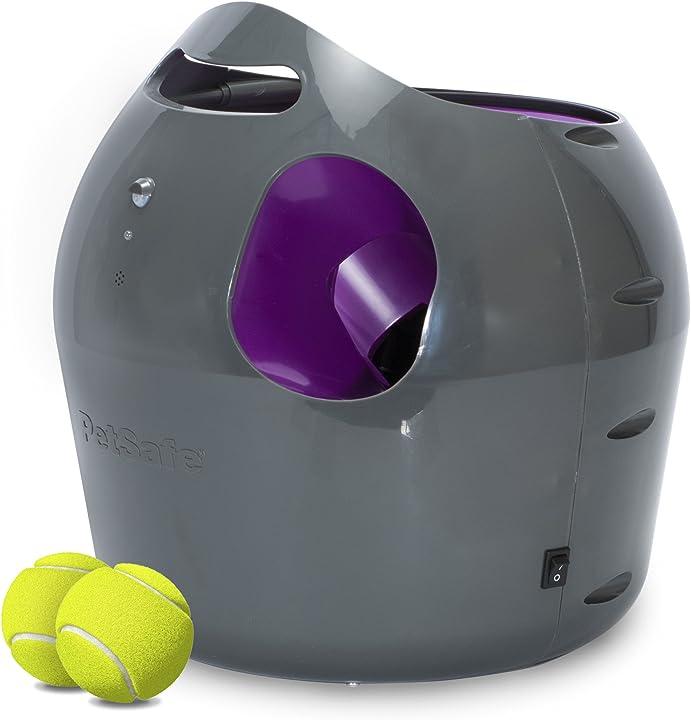 Lanciatore automatico di palline da tennis per cani, giocattoli interattivi per cani petsafe PTY19-15850