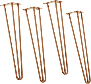 en.casa Set de 4 Patas de Acero robustas - Hairpin Legs -