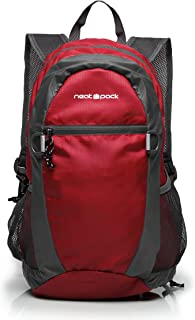 NeatPack Durable, Foldable Nylon Backpack/Daypack with Security Zippers, 20L